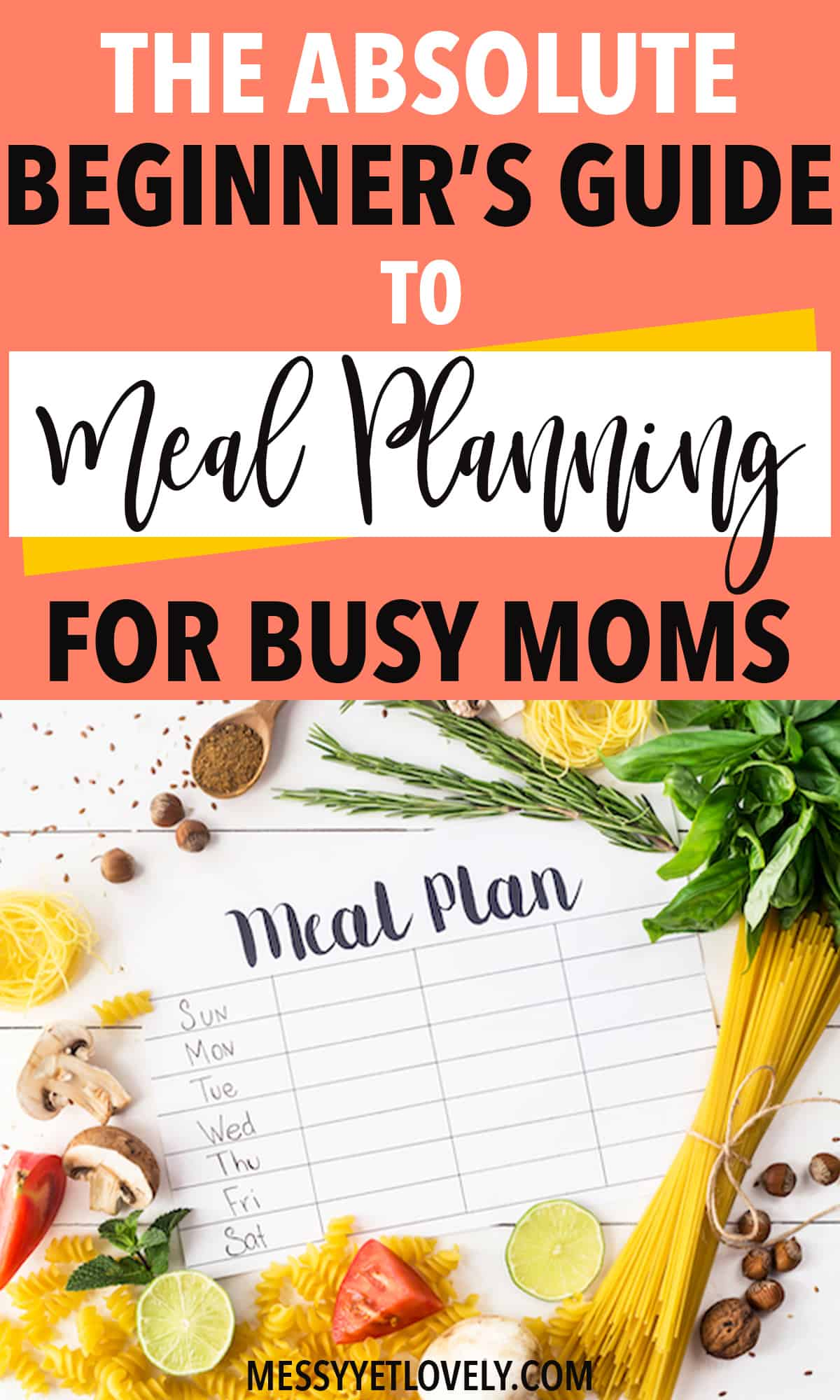 Getting started with meal planning can seem overwhelming when you have no idea where to start. This is a step-by-step guide for busy moms (or anyone) to get started with meal planning.