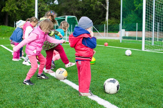 basic life skills for kids- kids playing soccer