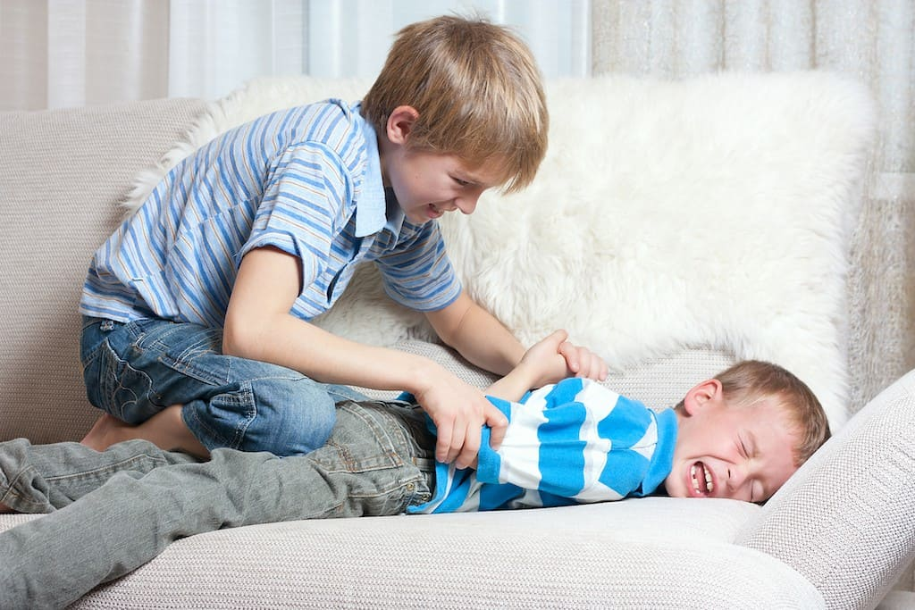 Two siblings fighting- how to deal with sibling rivalry