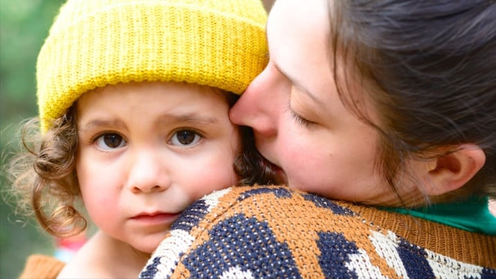 A mother using the positive parenting skill of empathy with her daughter
