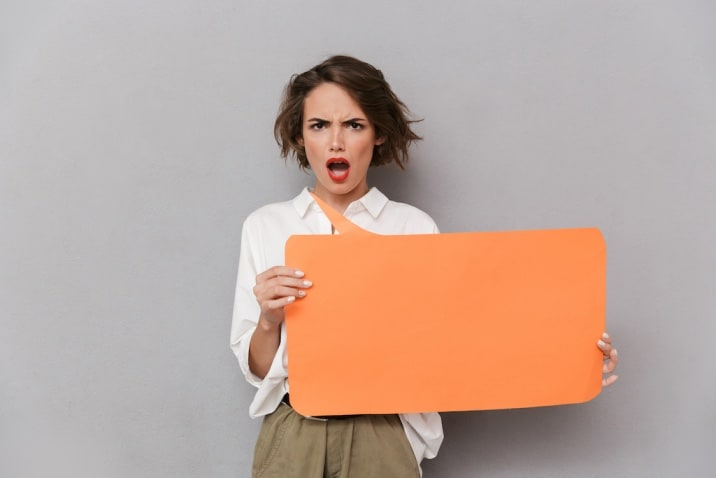 a woman complaining - one of the bad habits of moms is complaining