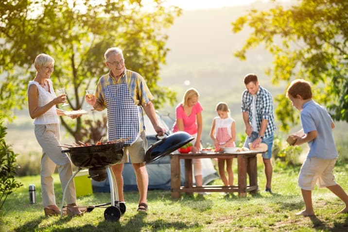the family ritual of camping and cooking