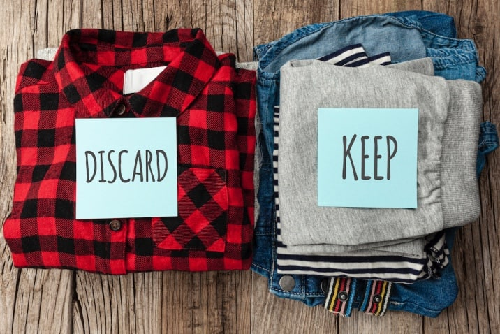 Clothes to give away and keep - decluttering mistakes to avoid