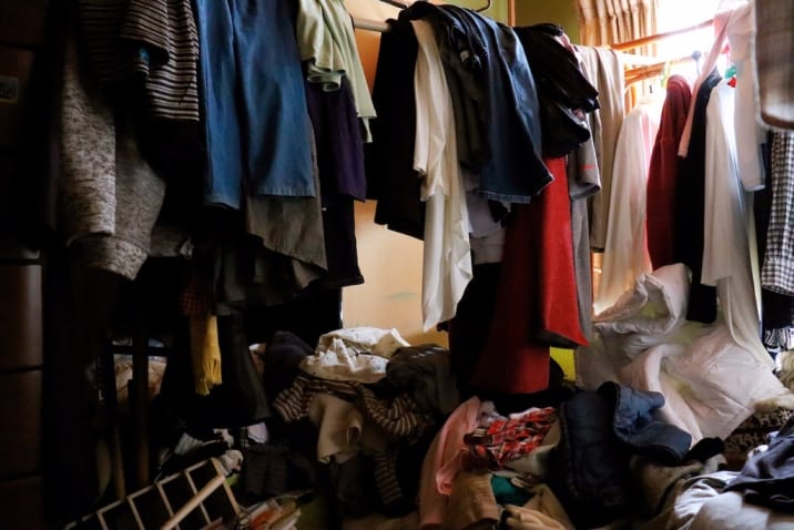 A messy room - decluttering mistakes to avoid